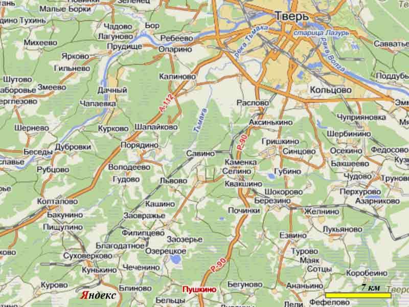 *03 [Тверь – Пушкино.] Карта