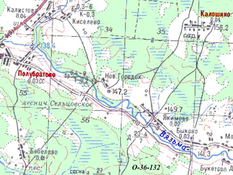 *06 [Река Вязьма.] Карта